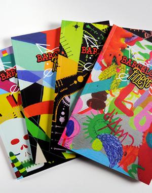 Réalisation et édition d'un livre de 68 pages sur la ville de Barcelone et l'influence de quatre street artistes sur celle-ci. Une série de 4x100 exemplaires en tirage limités, numérotés, et signés par chacun des artistes.